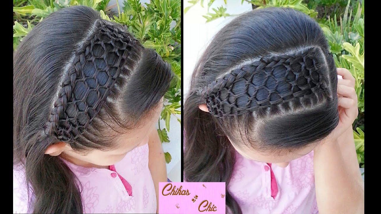 Peinado Tejido Panal de Abejas!!/Malla (Diadema con cabello)