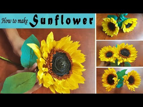 How To Make Beautiful Crepe Paper Sunflowers