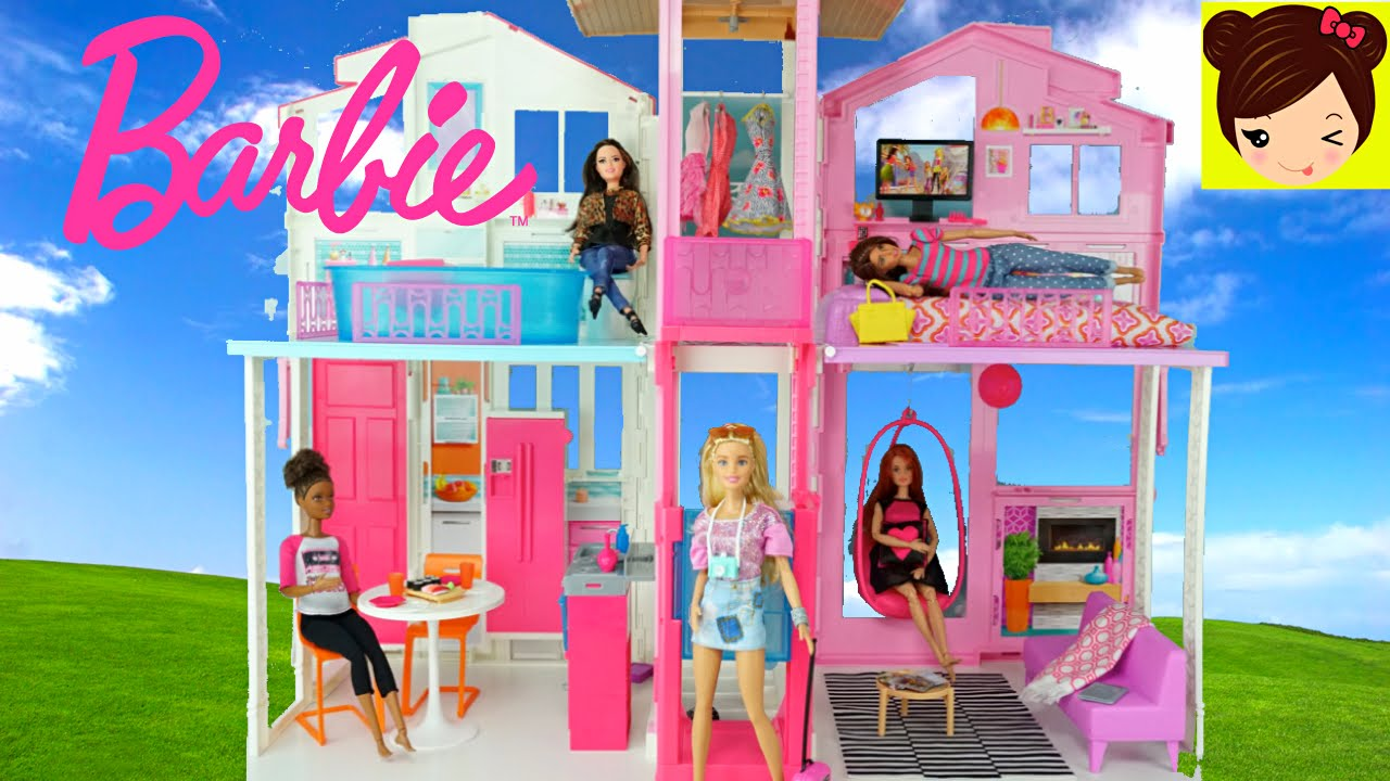 Casa De Barbie De Tres Pisos 2016 Decorando La Mansion De Barbie