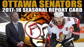 Ottawa Senators Seasonal Report Card (2017-18)