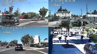 dashcam shows cops trying to run over man before shooting him