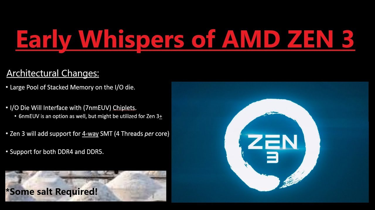 AMD Zen 3 Early Whispers: Another Huge Upgrade in 2020!