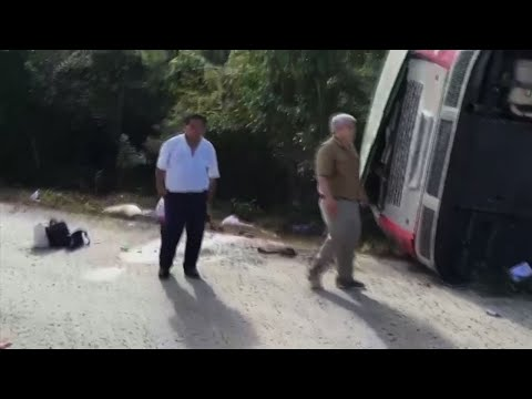 Several Dead After Tourist Bus Crash in Mexico