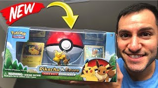 Opening NEW POKEMON CARDS Pikachu and Eevee Collection Box! (Lost Thunder Packs)