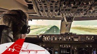 Take Off Boeing 747-400 Abu Dhabi - Cockpit View