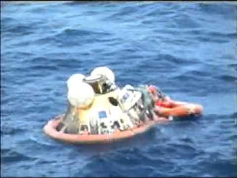 Apollo 11 Command Module Splashdown - YouTube