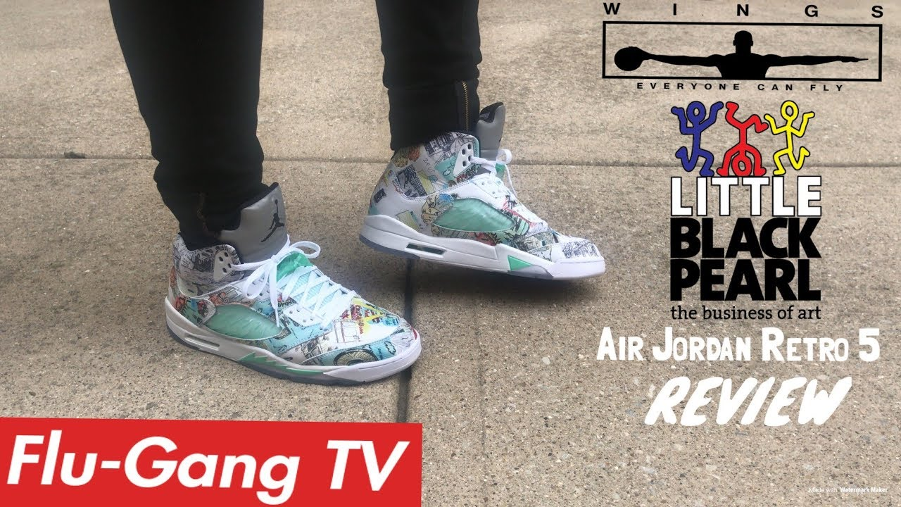 8f4a4eb7921 Jordan 5 Retro Wings Detailed On-Feet Review   LBP Academy Vlog ...