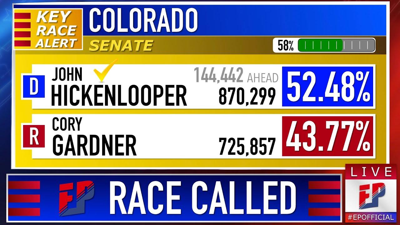 2020 Colorado Senate Prediction   John Hickenlooper vs Cory Gardner