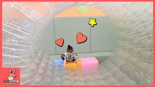 키즈 카페 상상노리 비눗방울 만들기 어린이 놀이 ♡ 꼬마 버스 타요 버스 타기 Soap bubble tayo bus toys for kids | 말이야와아이들 MariAndKids
