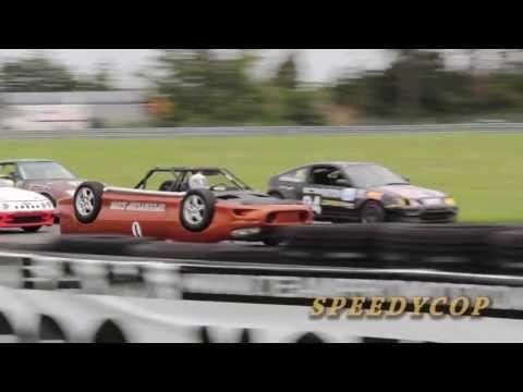 Upside-down Camaro debuts in LeMons race