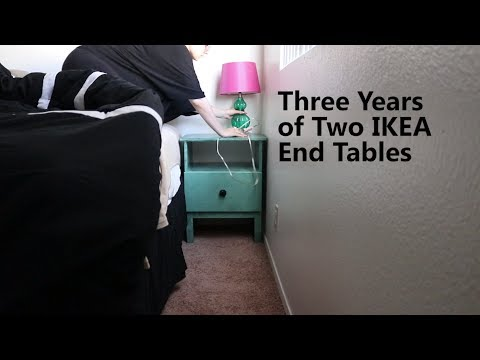 Three Years of Two IKEA End Tables