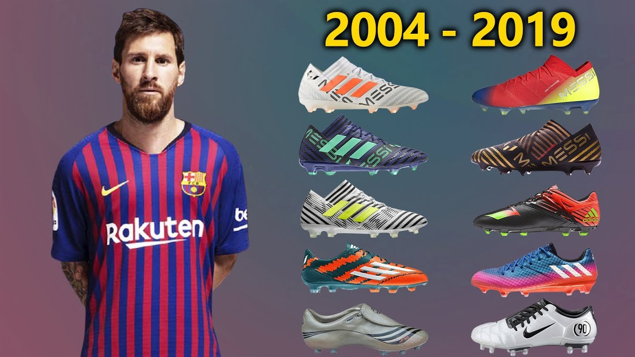 Lionel Messi New Soccer Cleats All Football Boots Ever 2004 2019 Youtube
