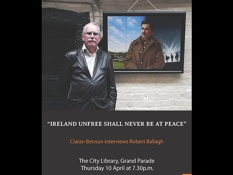 Robert Ballagh speaking at Cork City Libraries as part of the History is to Blame programme.