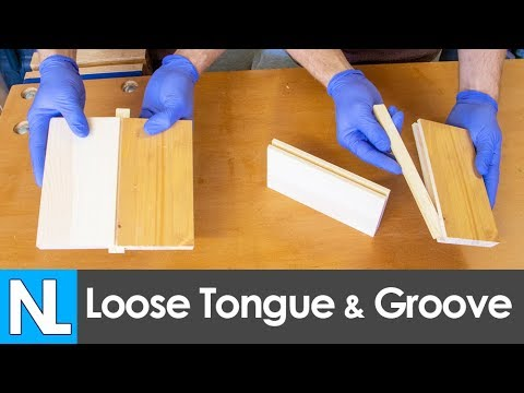 📐 How to make a loose tongue and groove joint // woodworking basics