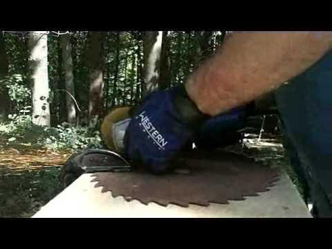 Knifemaking - First Homemade Knife - Saw Blade Knife