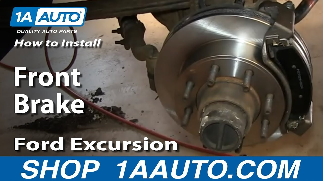 How To Install Do A Front Brake Job 2000 05 Ford Excursion Youtube Caption Diagram Of The Basic Disc Setup Arotor B
