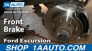 How To Install Do A Front Brake Job 2000-05 Ford Excursion