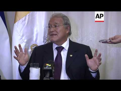 San Salvador president on canonisation of Monsignor Oscar Romero and situation in El Salvador and Ve