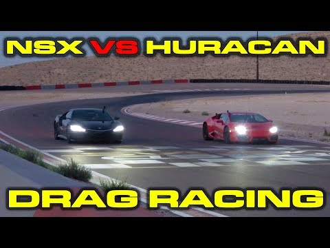 Acura NSX Vs Lamborghini Huracan Drag Race Results Are Obvious