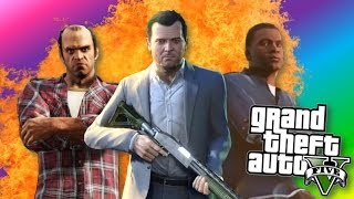 GTA 5: Funny Moments! - Biggest Explosion in GTA V, Farting, The Shop (Grand Theft Auto 5)