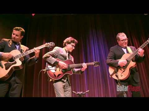 Martin Taylor, Frank Vignola, and Vinny Raniolo of the Great Guitars Live