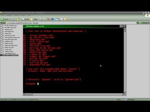 Mehrere MP3's zu Einer MP3 zusammenführen (kombinieren) - HTP4all_Combiner_v1.0 - 044