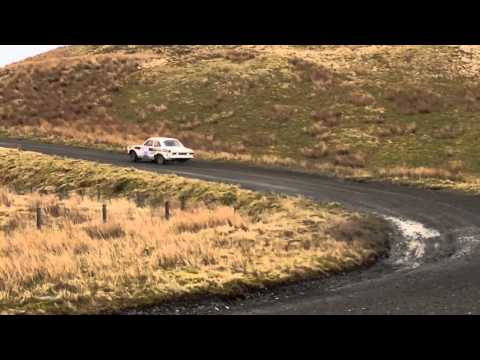 Mid-Wales rally stages 2015.Car 39
