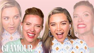 Scarlett Johansson and Florence Pugh Take a Friendship Test   Glamour