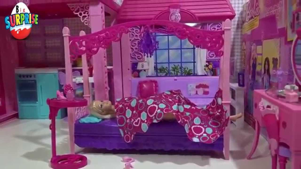 Barbie S Bedroom Glam Vanity Furniture Set Youtube