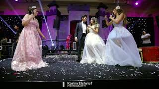 مفاجاة اخوات العروسة في فرح اسراء عبد الفتاح وحمدي الميرغني نجوم مسرح مصر