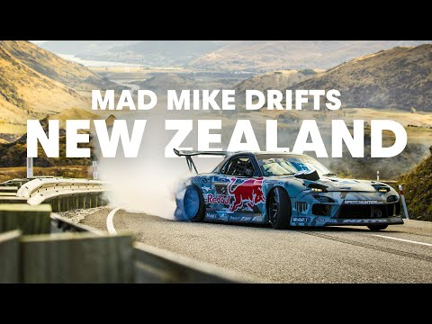 Veja o video – Mad Mike drifting Crown Range in New Zealand