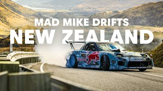 Mad Mike drifting Crown Range in New Zealand