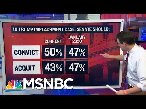 Steve Kornacki Examines Trump Impeachment Poll Numbers | Ayman Mohyeldin | MSNBC