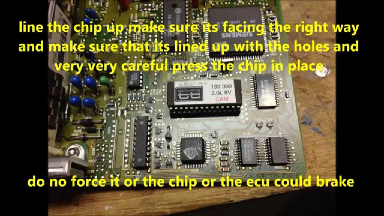 how to chip a ecu to a OBD1 mk3 Volkswagen - YouTube