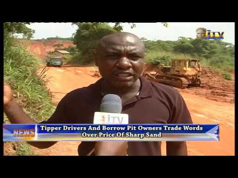 Tipper Drivers And Borrow Pit Owners Trade Words Over Price Of Sharp Sand