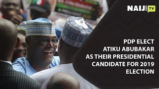 Nigeria Latest News: PDP Convention: Atiku Elected as Presidential Candidate   Legit TV