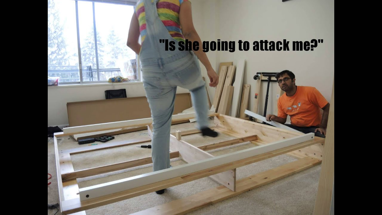Making Ikea Mandal Bed Time Lapse Video Youtube