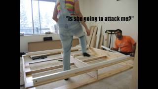 Making Ikea (mandal) Bed - Time-lapse Video