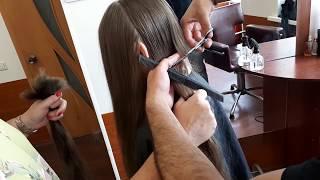 Детские волосы отрезаем