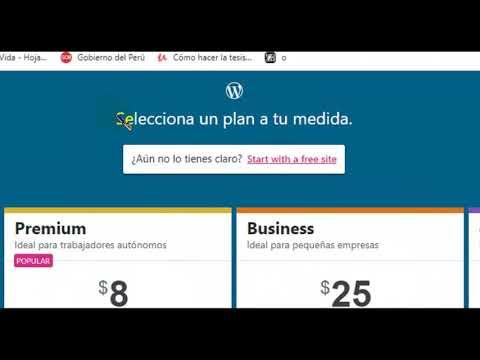 Tutorial como crear una cuenta en WordPress thumbnail