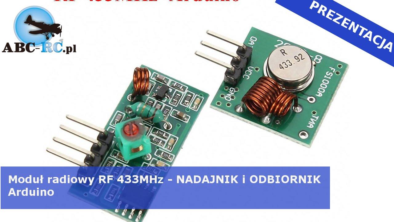 Moduł Nadajnik I Odbiornik Rf 433 Mhz Do Arduino Abc Rc Pl