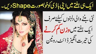 Weight Loss Diet Plan in a Week & Lose Weight Fast Tips - What are Calories Urdu Hindi