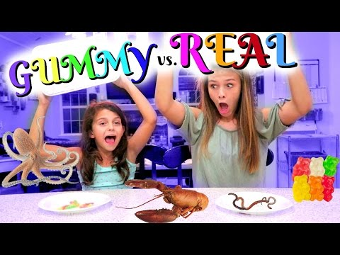 😱 DISGUSTING REAL FOOD vs. GUMMY FOOD CHALLENGE! 😱 SWITCH UP EDITION!