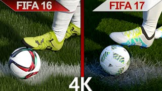 4K Comparison | FIFA 16 vs. FIFA 17 | Ignite vs. Frostbite Engine Graphics | PC