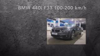 bmw 440i f33 100 200 km h acceleration