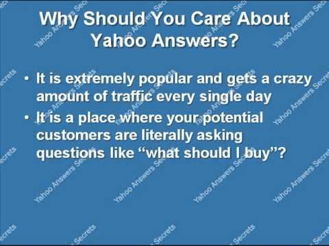 Should I do yahoo answers marketing