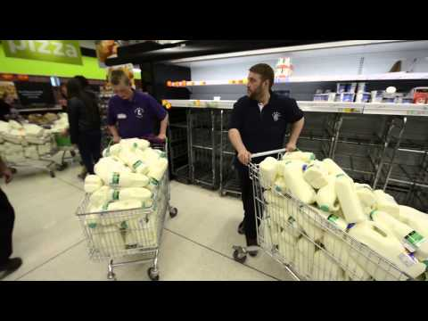 Dairy farmers take to the supermarkets to protest over milk prices