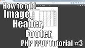 How To Merge Cells in PDF | PHP FPDF Tutorial #2 - YouTube