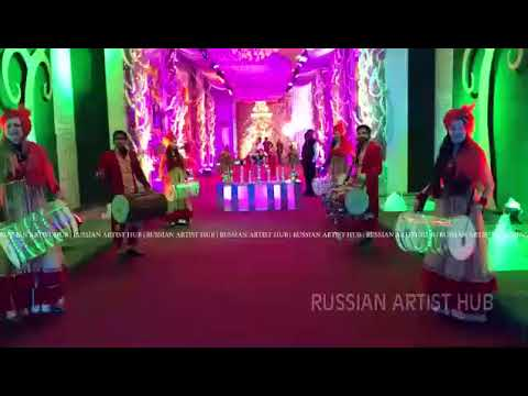Russian Dhol Player For Wedding Events In Hyderabad, Ahmedabad , Chennai