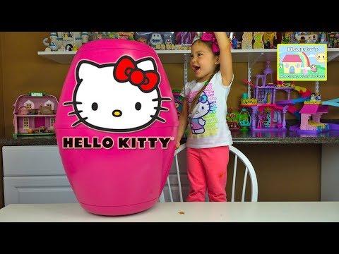HELLO KITTY SURPRISE TOYS Worlds Biggest Surprise Egg Chocolate HK Surprise Eggs Kids Toy Unboxing